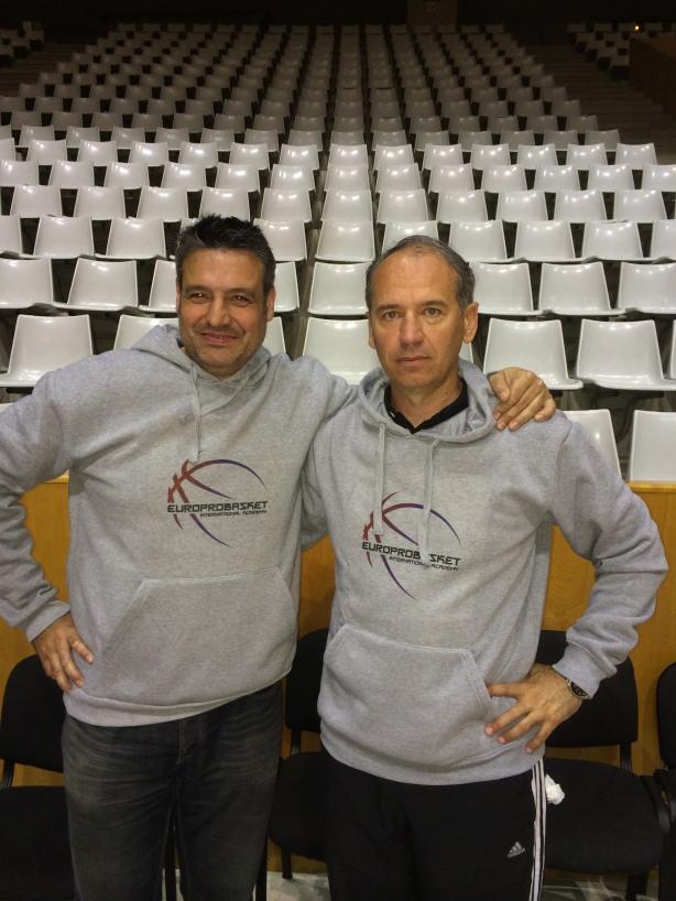 Xavi Fernandez and Coach Croatia